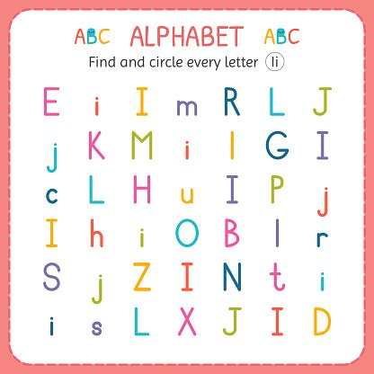 find  circle  letter  worksheet  kindergarten