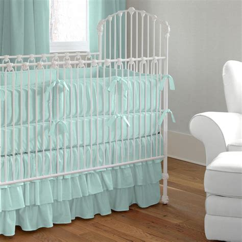 solid seafoam aqua crib bedding carousel designs