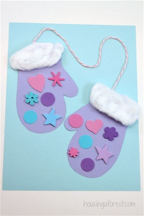 winter mitten craft for preschoolers housing a forest 485 | Preschool Winter Mittens Easy and Inexpensive Christmas Craft 1 409x614