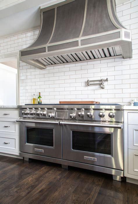 zinc french kitchen hood  satin nickel swing arm pot