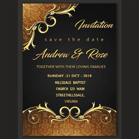 Wedding Invitation Card Template Awesome Wedding
