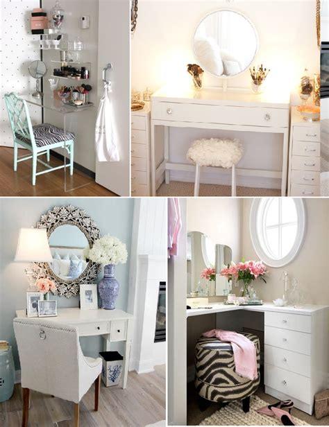 bureau maquillage inspirations rangement maquillage et chambre 2 à voir