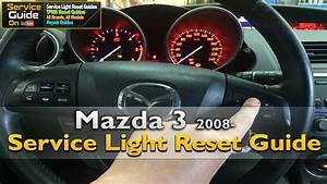 Mazda 3 2008- Service Light Reset Guide