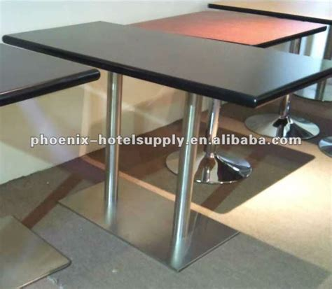 restaurant table with granite table top stainless steel