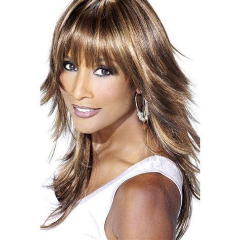 beverly johnson medium length layered hairstyles with