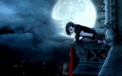Goth Gothic Fantasy Night Moon Christmas Dark