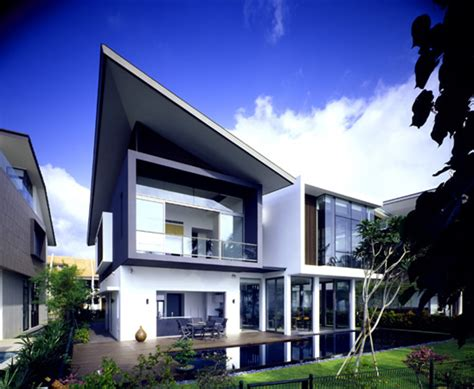 modern house  small area  sentosa cove digsdigs