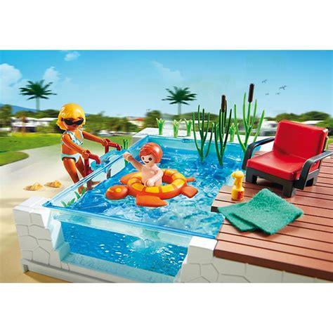 Playmobil Swimming Pool With Terrace (5575) Toys Zavvi