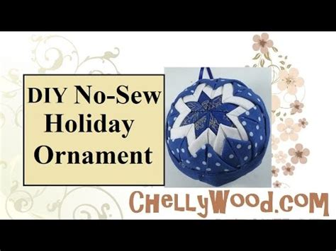 shabby fabrics no sew christmas ornament no sew quilted christmas ornament with jennifer bos doovi
