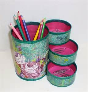 Organizer Made From Recycled Cans