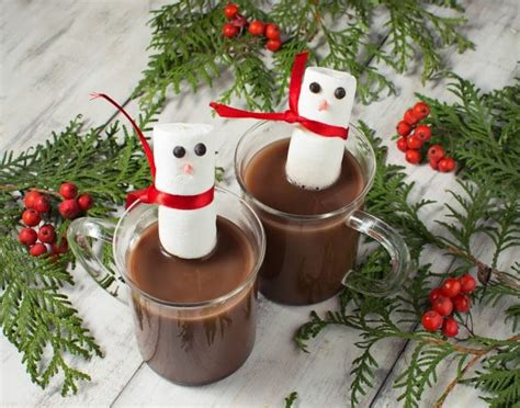 marshmallow snowman hot chocolate kitchen fun    sons
