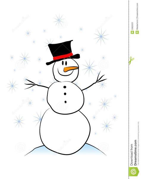 eenvoudige kinderlijke sneeuwman stock illustratie