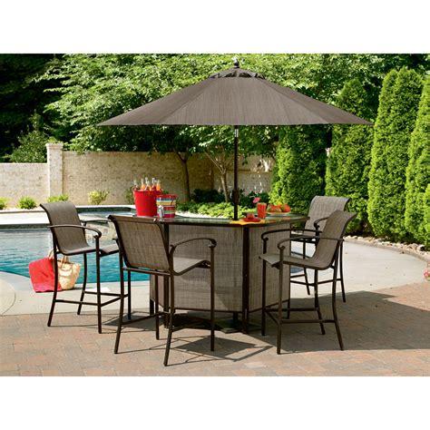 outdoor patio bar sets garden oasis 5 patio bar set hosting with
