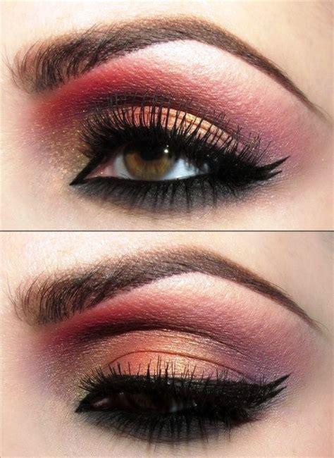 indian bridal inspired gold  red eye makeup amazingmakeupscom