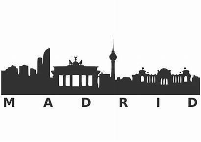 Skyline Madrid Clipart Silhouette Dallas Transparent Clip