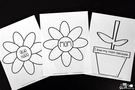 Mother's Day Flower Gift and Craft - A Dab of Glue Will Do