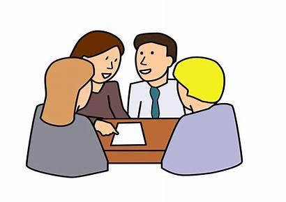 Clip Clipart Teamwork Cartoon Conversation Groups Council
