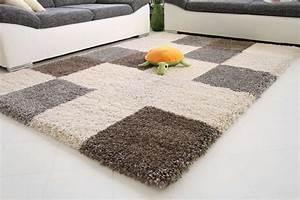 Hochflor Teppich Schwarz : hochflor teppich funny xxl karo global carpet ~ Indierocktalk.com Haus und Dekorationen