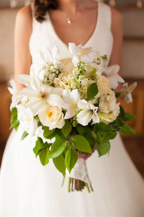 Wedding Wednesday  Green & White Bridal Bouquets