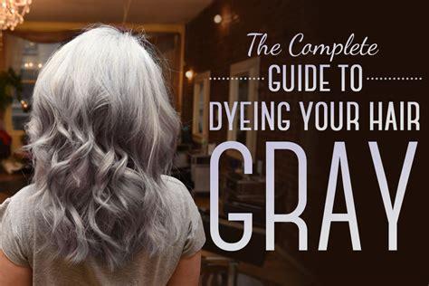 detail    dye  hair gray