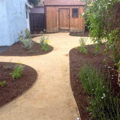 a decomosed granite dg path with mulch and natives yelp