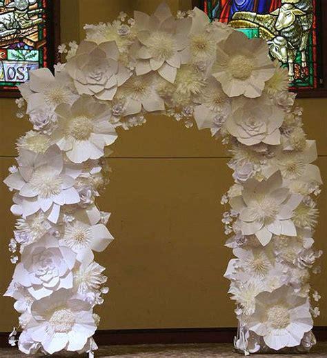 Rental Paper Flower Wedding Arch White And Ivory Von