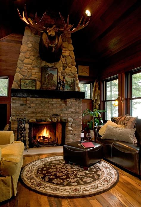 cozy rustic living room get cozy a rustic lodge style living room makeover betterdecoratingbiblebetterdecoratingbible