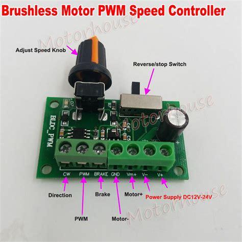 dc 12v 24v inner driver brushless motor speed controller regulator brake switch ebay