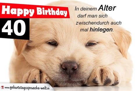 happy birthday zum 40 geburtstagsspr 252 che