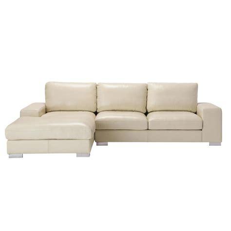 canapé d angle 5 places canapé d 39 angle 5 places fixe cuir ivoire york