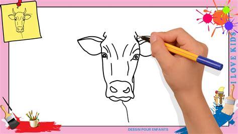 Dessin Vache (visage) Facile