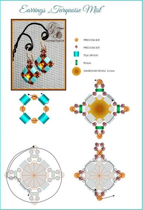 scheme the scheme earrings turquoise mist free jewelry tutorials beaded earrings patterns