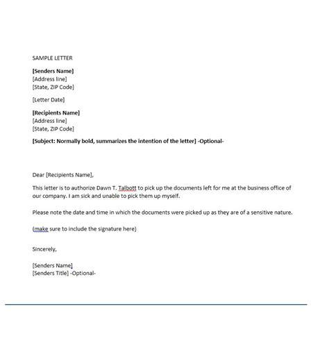 permission letter template printable