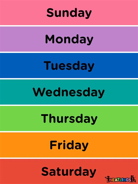 calendar for free printable calendar for chore 655 | neatlings days of the week small