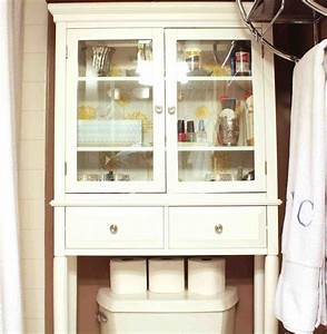 Bathroom cabinet above toilet home furniture design for 5 bathroom storage over toilet ideas