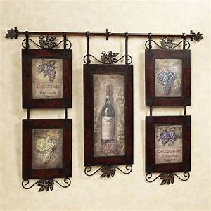 Emilion wine wall art wall decor kitchens and walls for Kitchen colors with white cabinets with set of three metal wall art