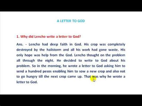 letter  god questions  answers  translate