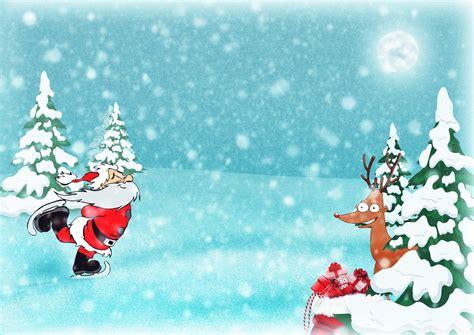 gambar hari natal santa rusa kutub hadiah sinterklas