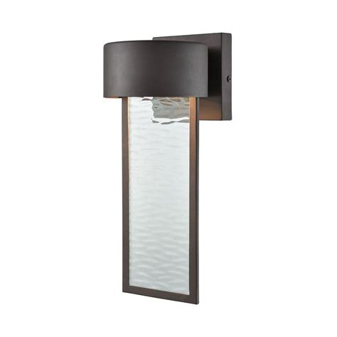 titan lighting julius clay bronze outdoor led wall sconce tn 75826 the home depot