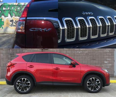 mazda jeep cx5 review 2016 honda cr v vs mazda cx 5 vs jeep cherokee