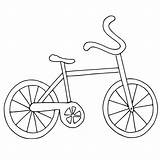 Coloring Bike Easy Preschoolers Bicycle Printable Getcoloringpages sketch template