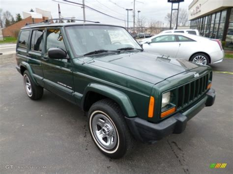 jeep cherokee sport green forest green pearl 1999 jeep cherokee sport 4x4 exterior