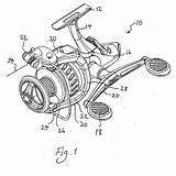 Fishing Reel Drawing Getdrawings Patent sketch template