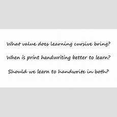 Why My Daughter Is Learning Cursive (even Though She Doesn't Need It) Geekmom