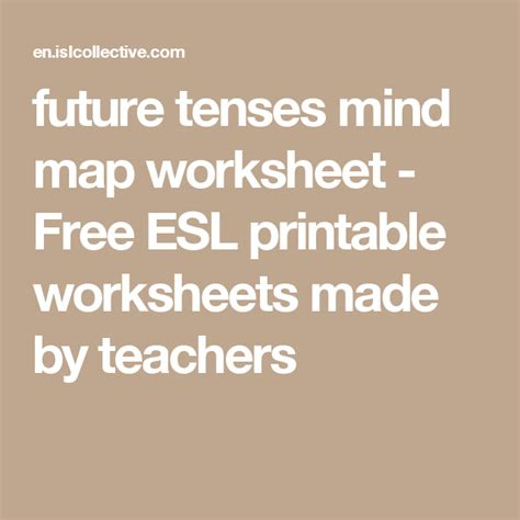 future tenses mind map  images worksheets