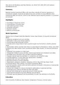 correctional officer resumes exles professional juvenile correctional officer templates to showcase your talent myperfectresume