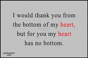 Thank You From My Heart | Quote Addicts