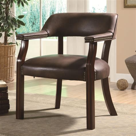 coaster office chairs 513brn traditional vinyl office side