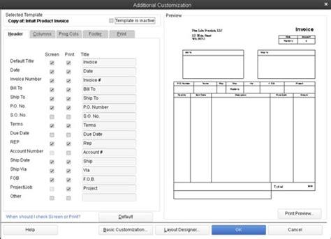 quickbooks invoice templates quickbooks invoice template invoice exle