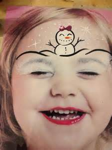 Easy Snowman Christmas Face Painting